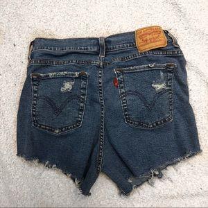 Levi's distressed denim shorts, size 10